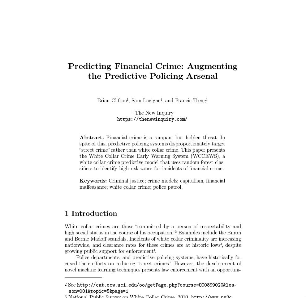 white collar crime paper topics